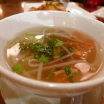 Thoa's fragrant sweet and sour soup with shrimp
