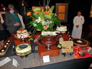 The dessert auction table