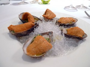 Shigoku oysters with uni (Ethan Stowell)