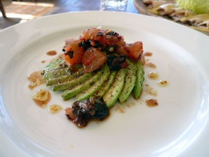 Avocado, grapefruit, oil-cured olives, chilies
