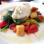 Gnocchini with spinach, tomatoes and ricotta