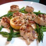 Caramelized sea scallops ($18.95)