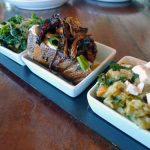 Small plates: zuppa arcidossana, parched wheat orecchiette, Sicilian farmer's bruschetta