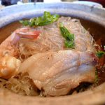 Kung op wun sen: prawns baked in a claypot with pork belly, bean thread noodles, and more