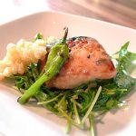 Boom Noodle: Miso broiled King salmon