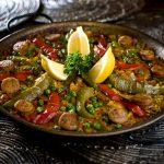 Taberna del Alabardero: Paella de pollo y chorizo (chicken and chorizo paella)
