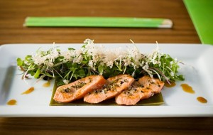 Boom Noodle: Quicklime salmon tataki
