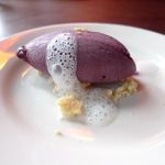 Branzino: Blueberry sorbet