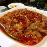 Boiled beef in hot sauce