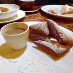 Buttermilk beignets with chicory anglaise for dipping