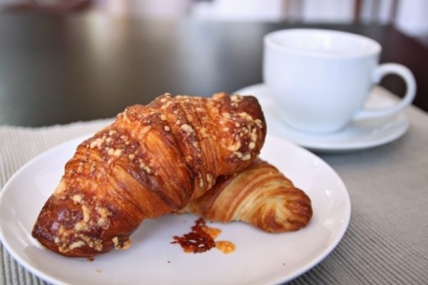 In a city that's starting to go croissant-crazy, Crumble & Flake offers options for both sweet and savory croissants.