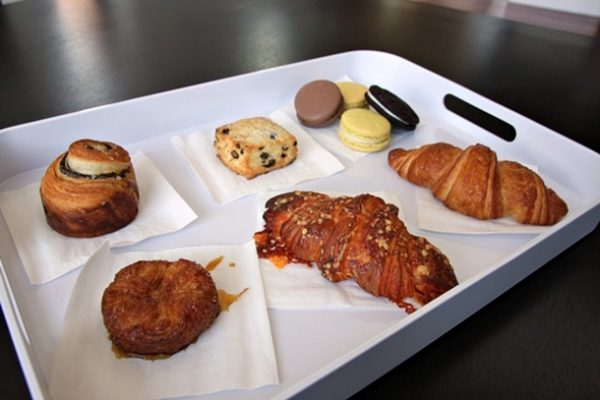 There are no tables or counters inside the patisserie, so you take your pastries and desserts to go.