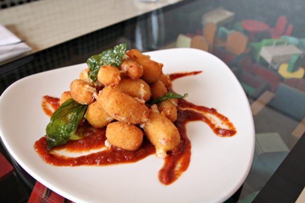 With appreciate for the beloved local cheesemaker, Szilak serves up Crispy Beechers Cheese Curds ($8 as shown, or $5 for a small portion). It's his desired touch of fried Americana on the menu, with bourbon tomato jam jazzing up the dish, along with some fried basil.