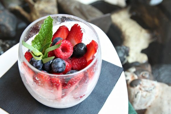 For dessert, one choice is Panna Cotta ($7). Wanting something fresh, Szilak makes this with classic Italian vanilla and cream, and tops it with seasonal berries.