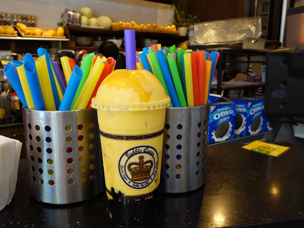 Bubble Queen's mango slush