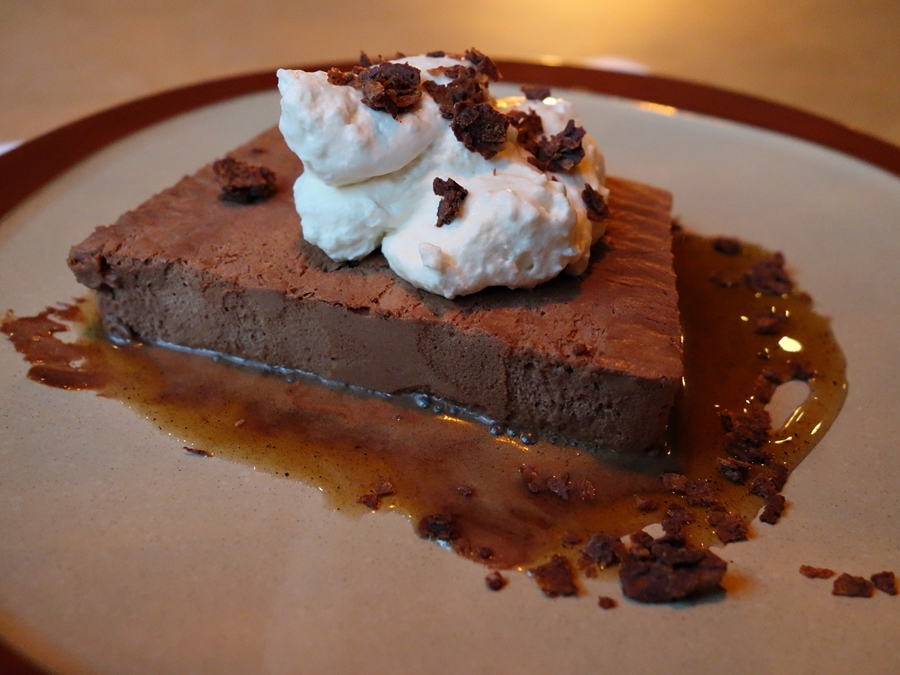 The textures of the chocolate-espresso semifreddo, soft whip, cocoa ...