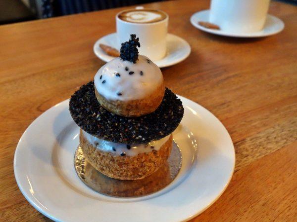 Beaucoup Bakery black sesame choux