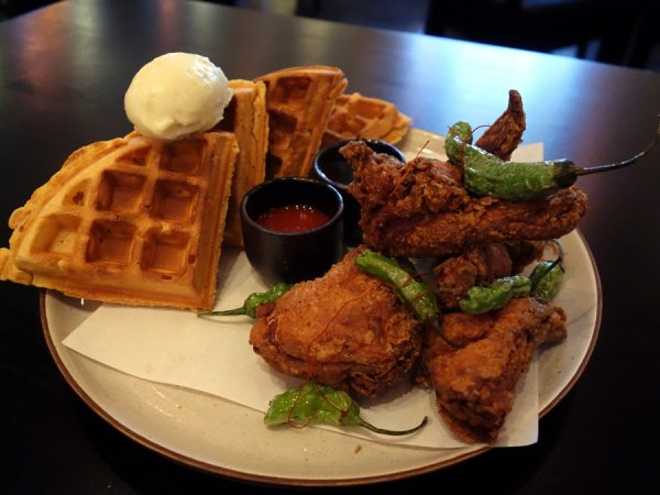 Kaisho chicken and waffles
