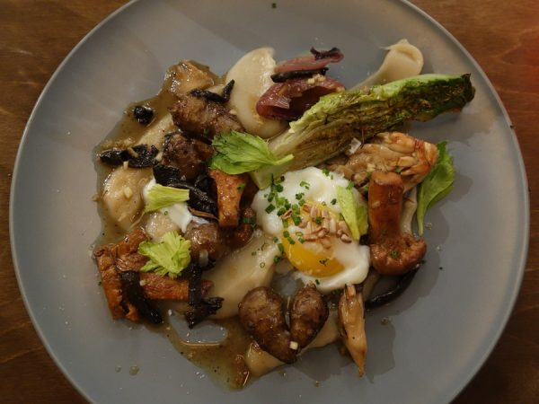 Misery Loves Company's sunchokes with mushrooms