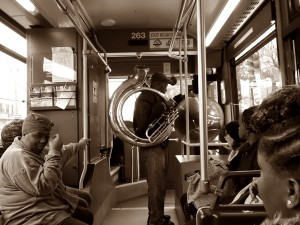 On the bus in New Orleans