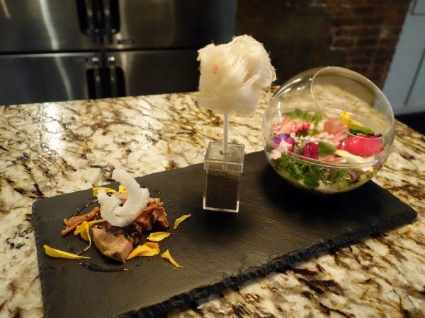 Root foie gras 3 ways