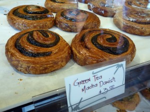 Fuji Bakery's green tea danish
