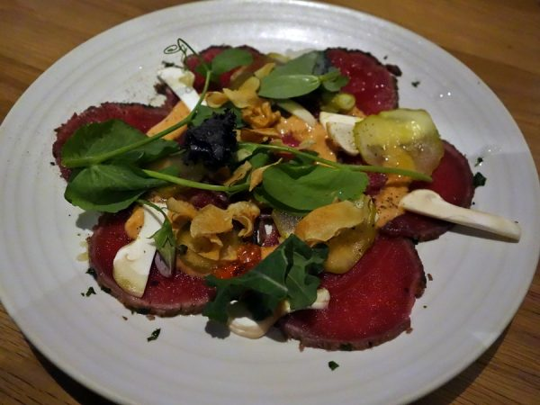 Bison carpaccio (my favorite dish at Forage)