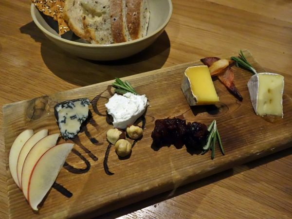 Cheese platter finale at Forage