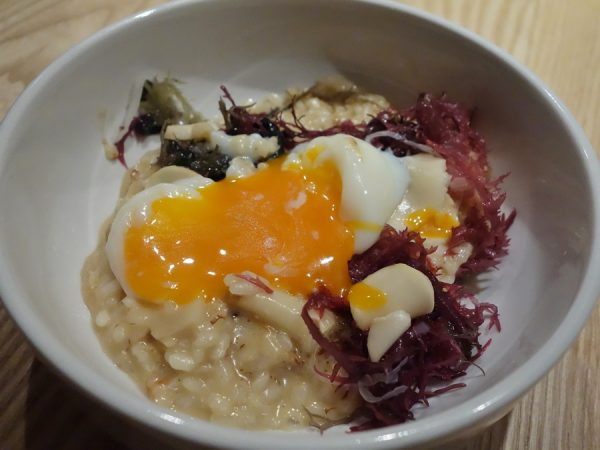 ...risotto with the egg broken