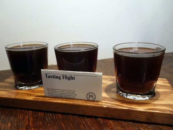 Coffee flights at Revolver