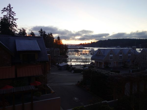 Daybreak view from the Eagle Harbor Inn