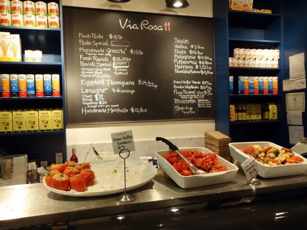 Via Rosa 11 menu