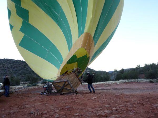 Balloon almost up