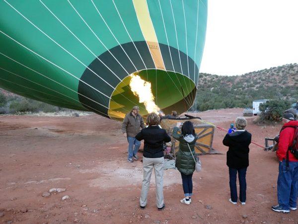 Balloon fire in