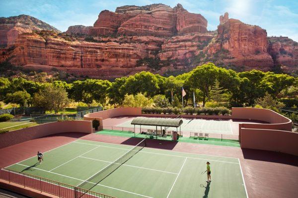Enchantment resort tennis courts