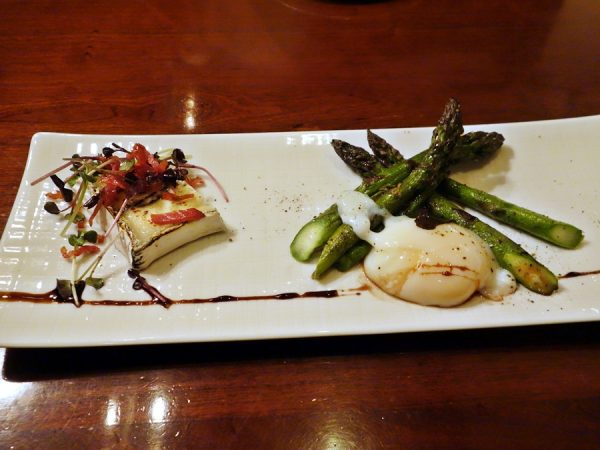 The Marc cheese and asparagus