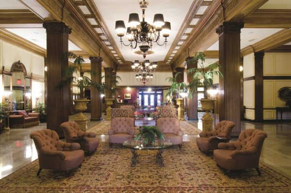 The lobby at the Marcus Whitman Hotel (Photo courtesy of Marcus Whitman Hotel)