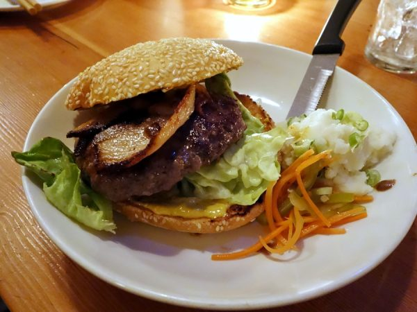You can also get a good burger at Biwa