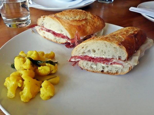 Prosciutto sandwich at Evoe