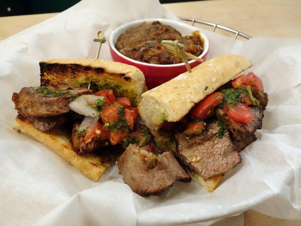 Martino's Santa Maria tri tip sandwich