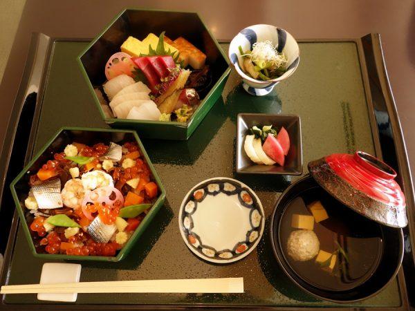 Special Chirashi Sushi at omborato