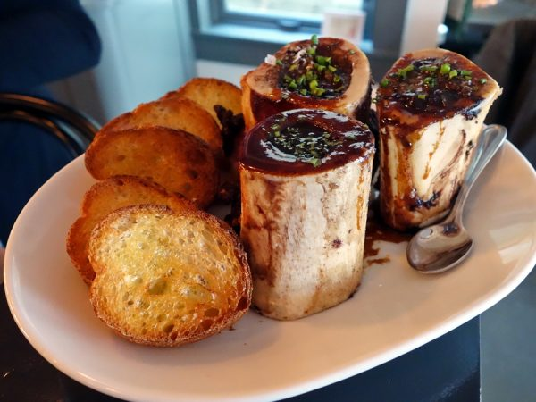 Roasted marrow bones ($12)