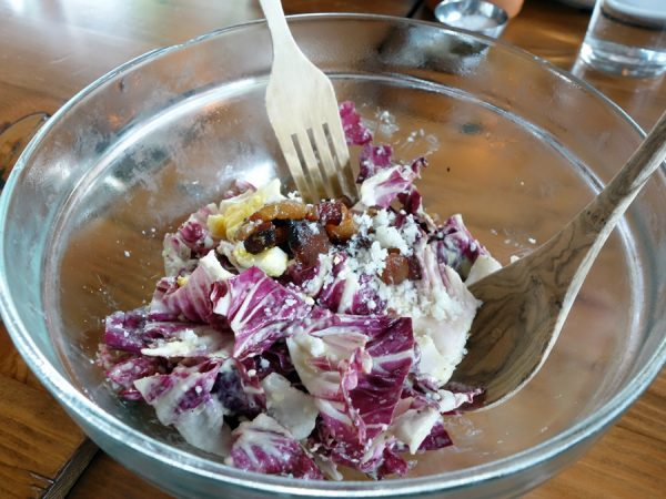 Half-order of radicchio at Tasty n Alder