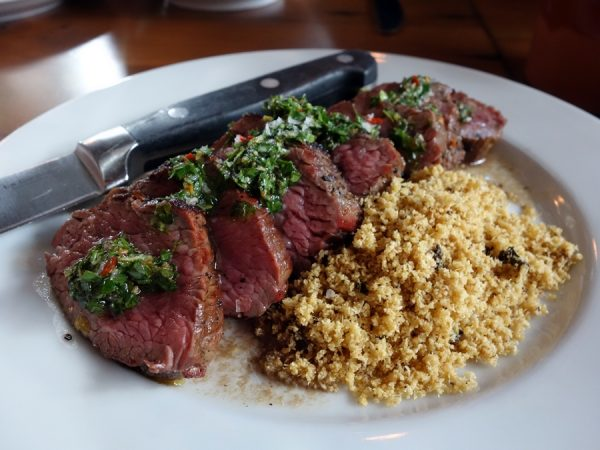 Tasty n Alder's steak with chimichurri