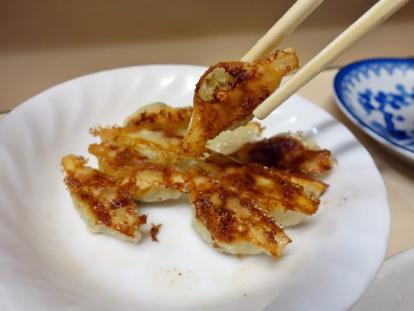 Tiny gyoza at Hacchan