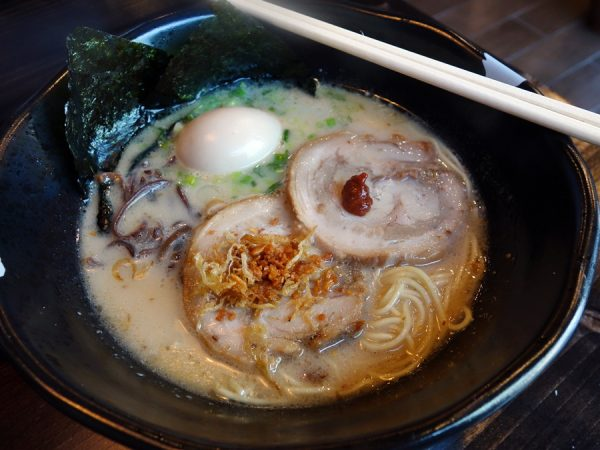 Jinya's tonkotsu black ramen
