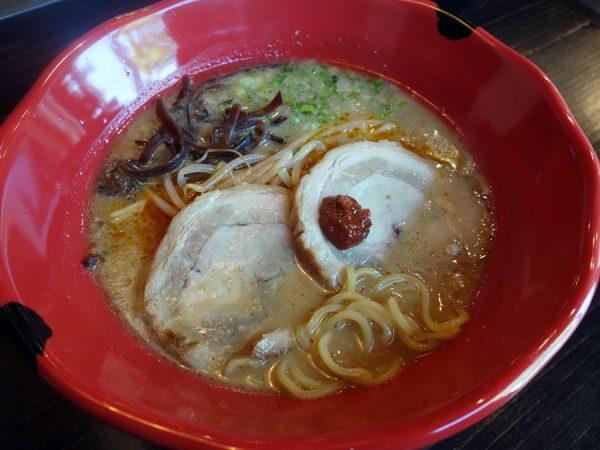 Jinya's tonkotsu red ramen