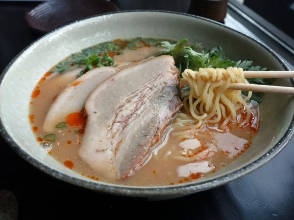 A look at the noodles in Shibumi's tonkotsu ramen