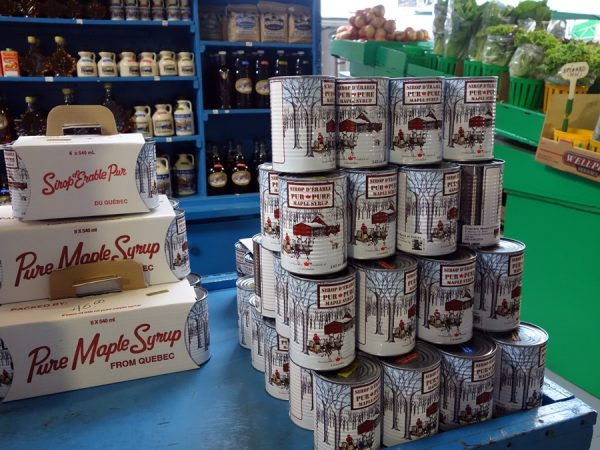 It's tempting to buy maple syrup at Atwater Market.