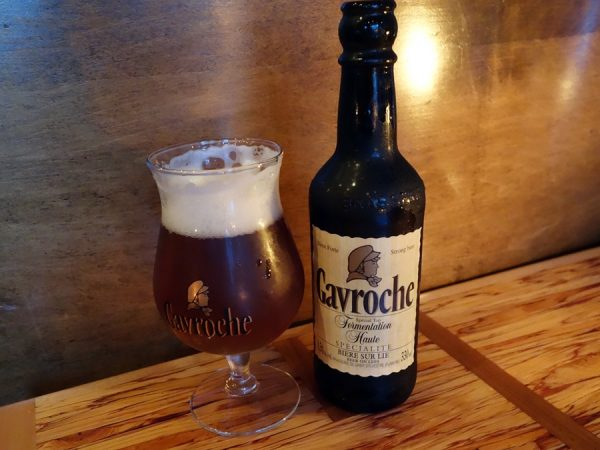 Gavroche amber ale to go with the tajine (even better was the Grimbergen dark ale paired with the foie)